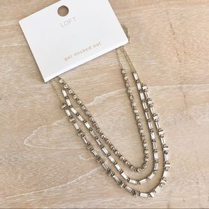 LOFT Ann Taylor three strand necklace NEW